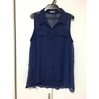 ジーユー(GU)の美品!ジーユー♡ノースリーブシャツ(シャツ/ブラウス(半袖/袖なし))
