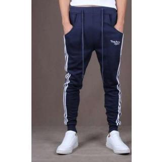 ◎ メンズ スウェット パンツ ジョガーパンツ  メンズ  青 XL (サルエルパンツ)