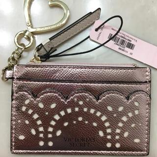 ヴィクトリアズシークレット(Victoria's Secret)の新品 ヴィクトリアシークレット パスケース キーホルダー カードケース 定期入れ(パスケース/IDカードホルダー)