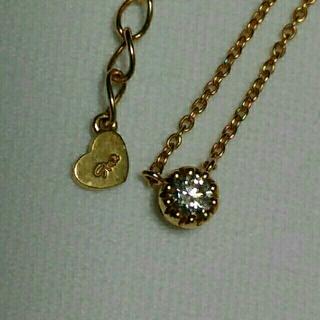 スタージュエリー(STAR JEWELRY)のミルフクリン 18K  ダイヤモンドネックレス(ネックレス)