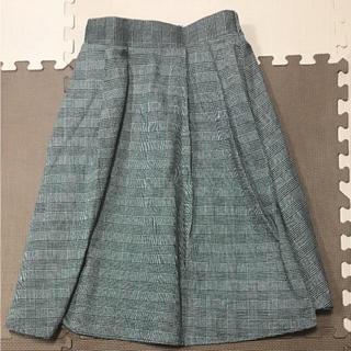 シマムラ(しまむら)の美品 しまむら チェックスカート(ひざ丈スカート)
