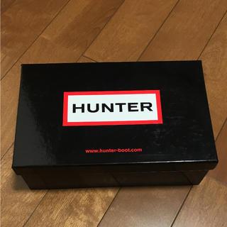 ハンター(HUNTER)の美品 ハンター 高級 BOX サンダル  HUNTER 収納 箱(レインブーツ/長靴)