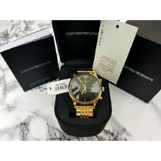 エンポリオアルマーニ(Emporio Armani)のエンポリオアルマーニ 腕時計 メンズ クロノグラフ ゴールド(腕時計(アナログ))