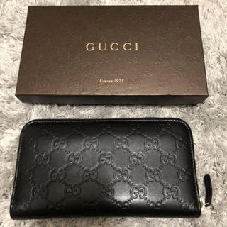 Gucci - GUCCI ラウンドファスナー長財布