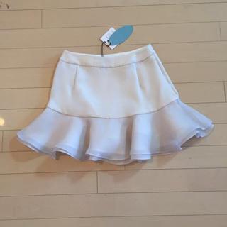 デイシー(deicy)のdeicy♡フリルスカート♡白♡新品(ミニスカート)