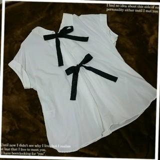 トランテアンソンドゥモード(31 Sons de mode)の31sdm♡バックリボンブラウス(シャツ/ブラウス(半袖/袖なし))