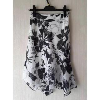 クードシャンス(COUP DE CHANCE)のクードシャンス 花柄 アシンメトリースカート(ひざ丈スカート)