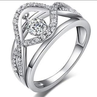 人気の ダンシング リング!キラキラ揺れる 指輪 ジルコニア S925 大人気(リング(指輪))