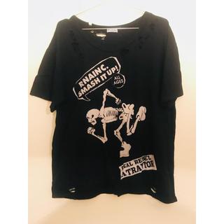 アールエヌエー(RNA)のRNA Inc. ドクロダメージTシャツ(Tシャツ(半袖/袖なし))