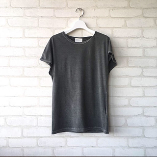 Whim Gazette ウィムガゼット * 製品染め コットンTシャツ
