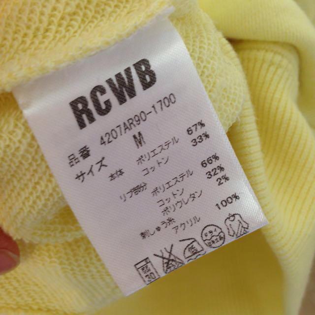 RODEO CROWNS(ロデオクラウンズ)のRCWB イエローパーカー M レディースのトップス(パーカー)の商品写真