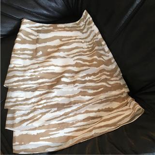 クードシャンス(COUP DE CHANCE)の美品♡ミッシェルクラン ゼブラ柄スカート クードシャンス好きにも(ひざ丈スカート)