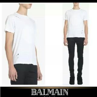 バルマン(BALMAIN)のBALMAIN/バルマン ホワイトTシャツS(Tシャツ/カットソー(半袖/袖なし))