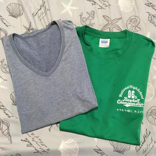 ジーユー(GU)のメンズ  半袖 Tシャツ 2枚セット(Tシャツ/カットソー(半袖/袖なし))