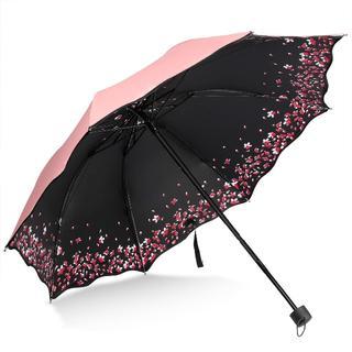 折り畳み傘桜の花びら携帯便利晴雨兼用紫外線防ぐ太陽傘(傘)
