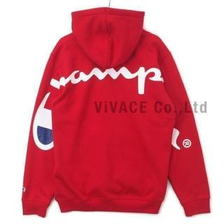 Supreme - Supreme Champion Hooded Sweatshirt 赤S