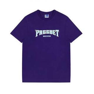 コムデギャルソン(COMME des GARCONS)のpaccbet logo tee purple(Tシャツ/カットソー(半袖/袖なし))