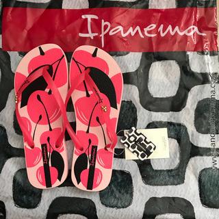 ハワイアナス(havaianas)の新品タグ付き☆ Ipanema ビーチサンダル チェリー柄(ビーチサンダル)