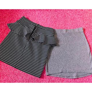 ジーユー(GU)のスカート ミニスカート* H&M  g.u. (2点セット)【新品】(ミニスカート)
