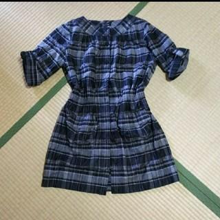 コムサデモード(COMME CA DU MODE)のCOMMECADUMODE シャツワンピ(シャツ/ブラウス(半袖/袖なし))