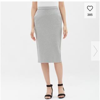 ジーユー(GU)のGUカットソータイトスカート L(ひざ丈スカート)