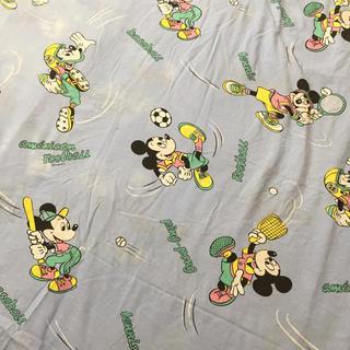 ディズニー(Disney)のスポーツミッキー☆ビンテージシーツ (生地/糸)