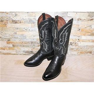 トニーラマ(Tony Lama)の最高級品 超美品 TonyLama トニーラマ ウエスタンブーツ 黒 28cm(ブーツ)