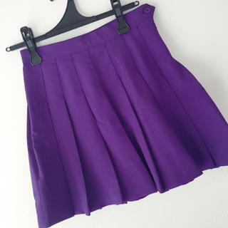 ウィゴー(WEGO)のWEGO 紫プリーツスカート(ミニスカート)