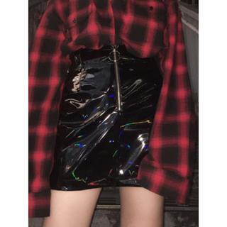 バブルス(Bubbles)のバブルス エナメル台形スカート(ミニスカート)