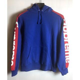 Supreme - 未使用品◆18SS シュプリーム サイドライン プルオーバーパーカー 青赤