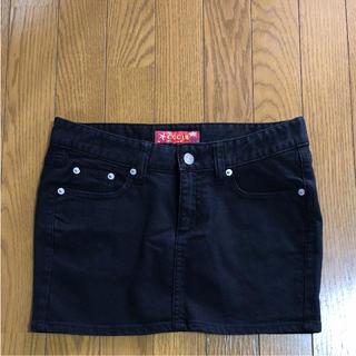 コキュ(COCUE)のCOCUE デニムスカート ブラック(ミニスカート)