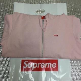 シュプリーム(Supreme)のSupreme Small Box Zip Up Sweatshirt 桃M(パーカー)