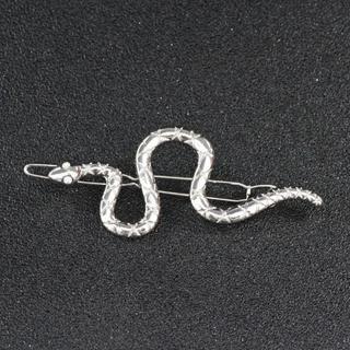 新品◆ヘビのヘアピン シルバー(ヘアピン)