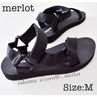 メルロー(merlot)のmerlot スポーツサンダル  *ブラック M(サンダル)