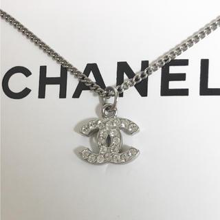 CHANEL - 正規品 シャネル ネックレス シルバー ココマーク ラインストーン 銀 石 2