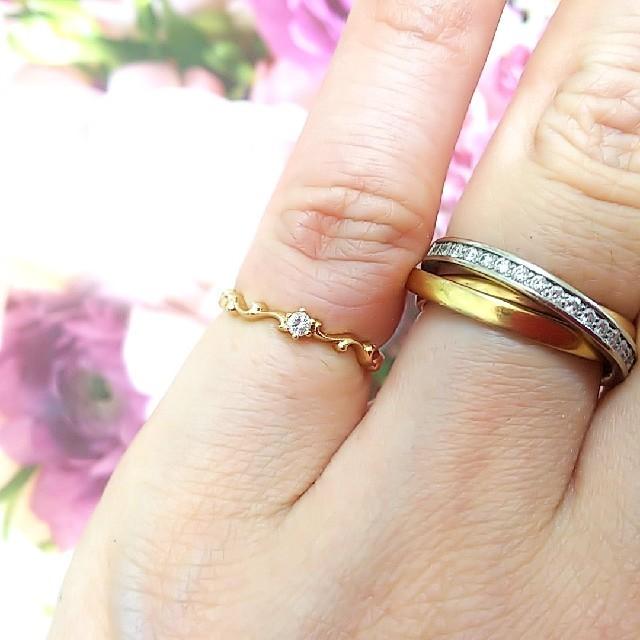アルページュ K10 一粒ダイヤモンドリング #2 レディースのアクセサリー(リング(指輪))の商品写真
