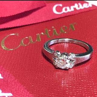 Cartier - 極美品 0.35ct カルティエ バレリーナ ダイヤ モンド リング 鑑定書
