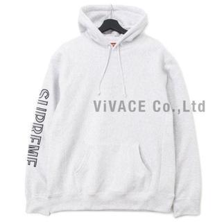 シュプリーム(Supreme)のSleeve Embroidery Hooded Sweatshirt グレーM(パーカー)
