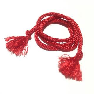 ♡髪も結べる♡ 組み紐 赤 組紐 髪飾り ブレスレット アクセサリー 君の名は。(その他)