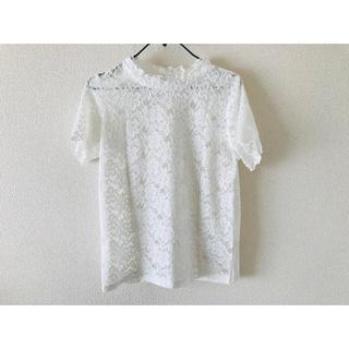 ジーユー(GU)のGU レーストップス L(Tシャツ(半袖/袖なし))