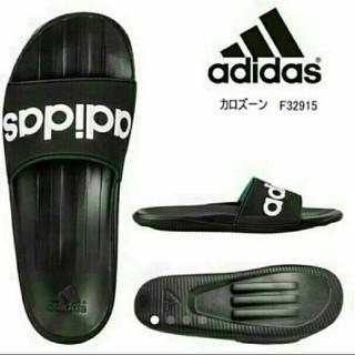 アディダス(adidas)の新品 送料込み アディダス 黒 カロズ-ン 26.5センチ ブラック(サンダル)