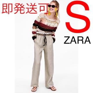 ZARA - ZARA リネンパンツ リネン パンツ リボン