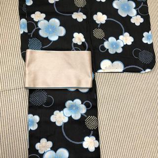 新品浴衣 変わり織 黒地(浴衣)