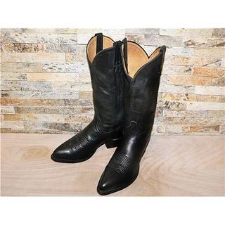 トニーラマ(Tony Lama)の最高級 美品 トニーラマ TonyLama シンプルウエスタンブーツ黒 25cm(ブーツ)