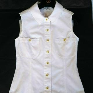 CHANEL - CHANEL  CCボタン ノースリーブブラウスシャツ正規品