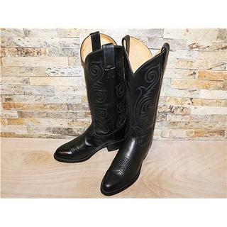 トニーラマ(Tony Lama)の最高級品 1度使用品 トニーラマ ウエスタンブーツ 黒 25cm US8B(ブーツ)
