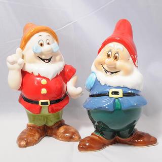 ディズニー(Disney)の【中古】ディズニー 7人の小人 陶器の人形 置物(置物)