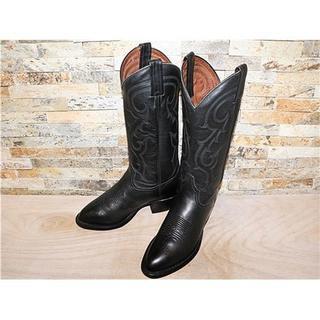 トニーラマ(Tony Lama)の最高級品 美品 トニーラマ TonyLama ウエスタンブーツ 黒 25cm (ブーツ)