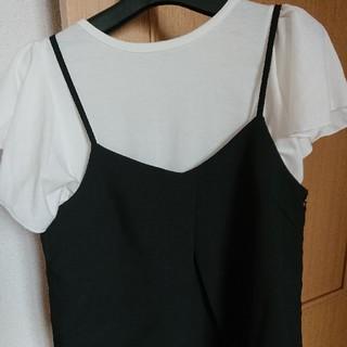 ジーユー(GU)の2点セットにて 美品 フリル袖(Tシャツ(半袖/袖なし))