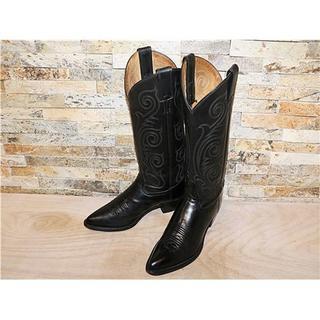 トニーラマ(Tony Lama)の最高級品 美品 トニーラマ TonyLama ウエスタンブーツ黒 24cm 7B(ブーツ)